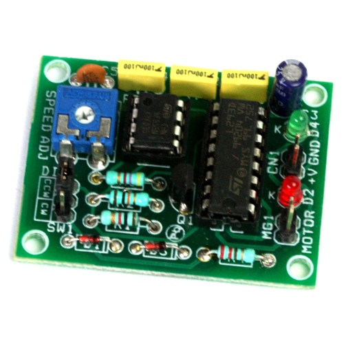 DC MOTOR SPEED AND DIRECTION CONTROLLER USING L293 AND 555 TIMER (2)