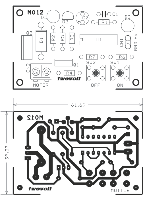 digital togle switch with solid state mosfet based relay