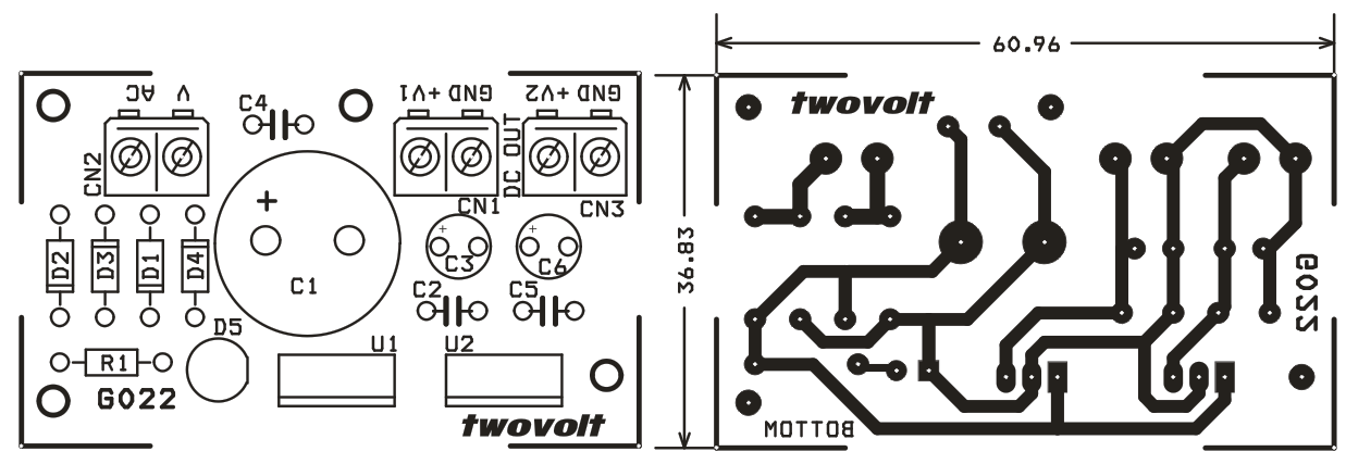 dual 5v and 12v regulated power supply using lm7805 and