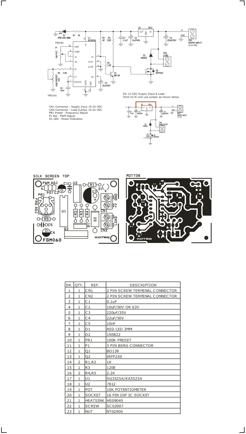 Halogen Lamp Dimmer Sg3525 Archives Circuit Ideas I Projects Soft Start For 12 Volt Lamps High Current Helogen 1