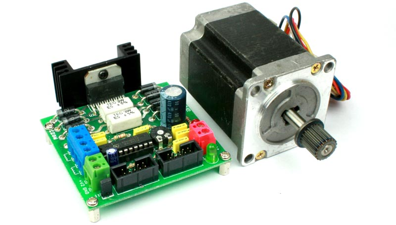 L298 and L297 Based High Current Stepper Motor Driver with Mach 3 Interface (6)