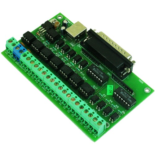 OPTICALLY ISOLATED LPT PORT BREAKOUT BOARD FOR CNC MACH3 SOFTWARE (1)
