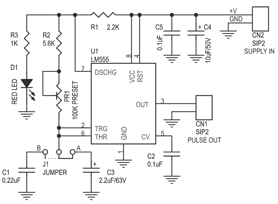 Pulse Generator For Stepper Motor Driver Using 555 Ic Cmos Or Ttl How To Build Sound Effects Circuit Diagram