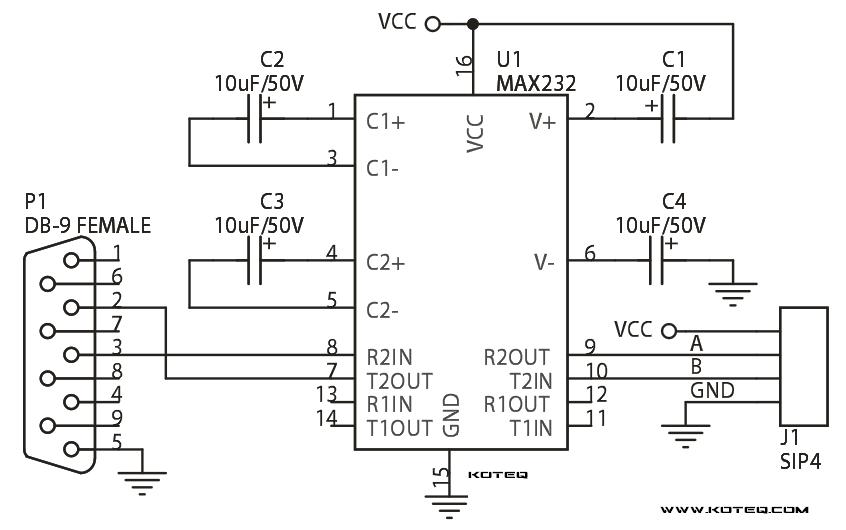 Rs 232 Module Using Max232  2