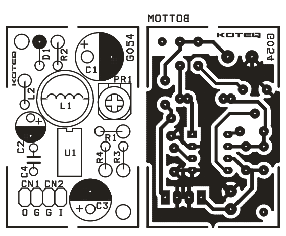 Step Up DC-DC Converter 28V Output from 12V DC IN Using MC34063 (2)