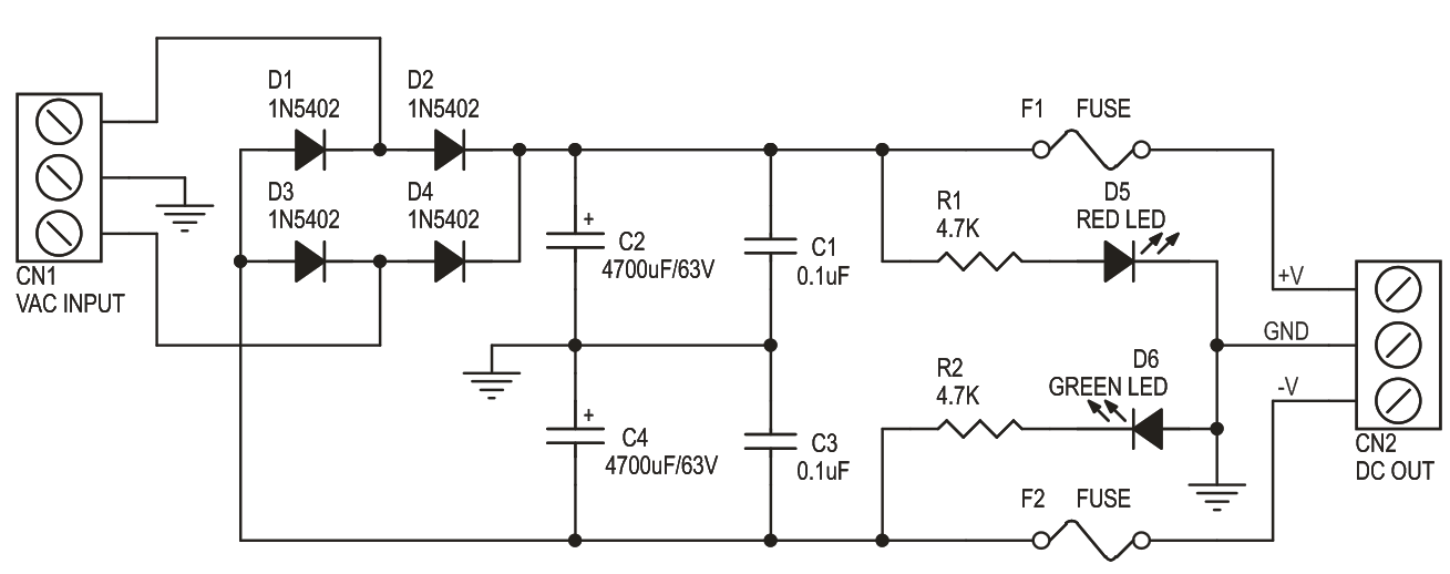 UNREGULATED DUAL OUTPUT POWER SUPPLY 60V 3AMPS (3)