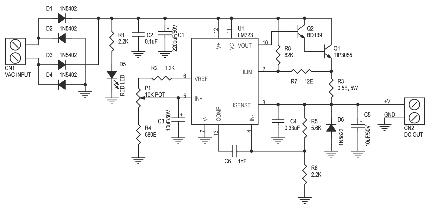 Uncategorized Archives Page 4 Of 7 Circuit Ideas I Projects Power Supply Using Lm 317 Lm337 Electronic Circuits And Diagram Variable 26v To 24v Dc 1amp Lm723 3