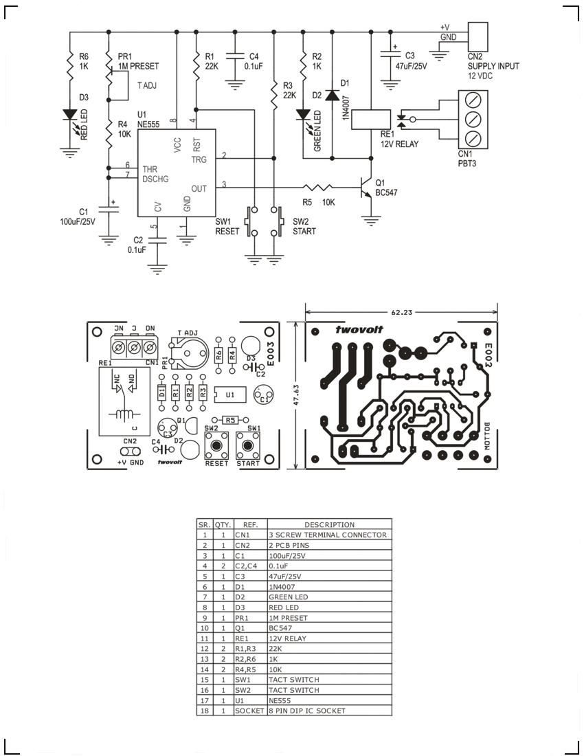 Timers Controllers Archives Page 3 Of 4 Circuit Ideas I Switch Electronic Project Using 555 Timer Bc547 Transistors 1 To 100 Seconds Adjustable