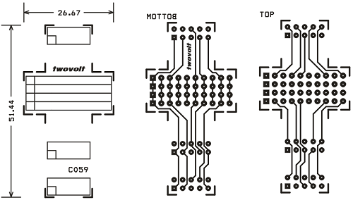 10 pin box header to single line header and female mulitiple connector converter