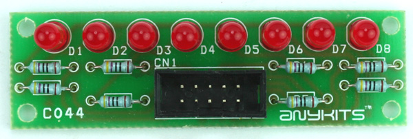 8 LED OUTPUT DISPLAY MODULE FOR MICRO-CONTROLLER DEVELOPMENT BOARD (1)