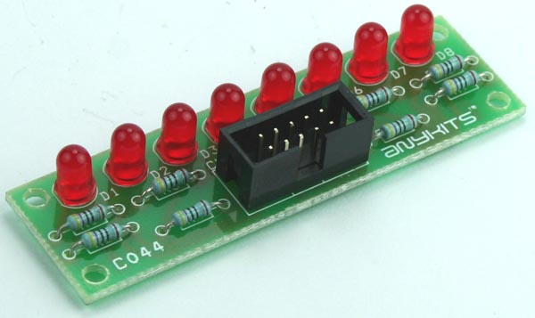 8 LED OUTPUT DISPLAY MODULE FOR MICRO-CONTROLLER DEVELOPMENT BOARD (2)