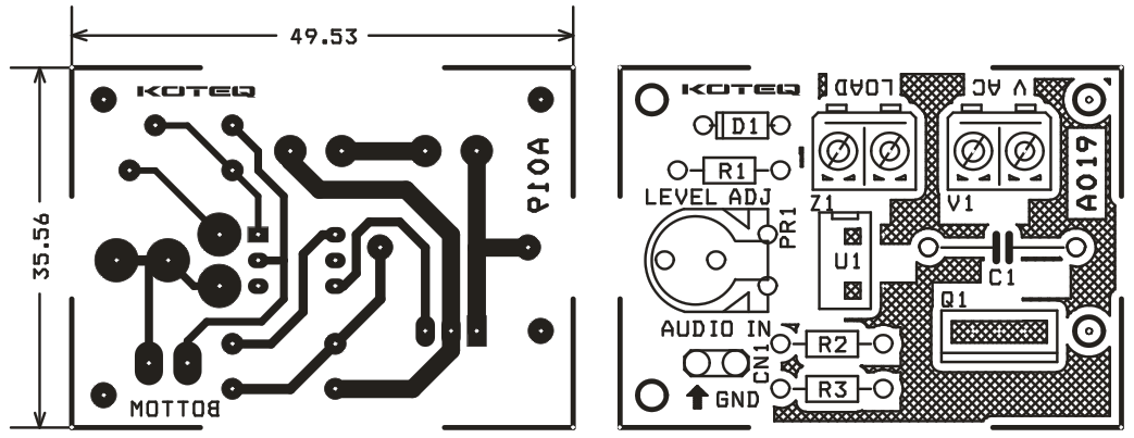 audio signal to light lamp driver  2