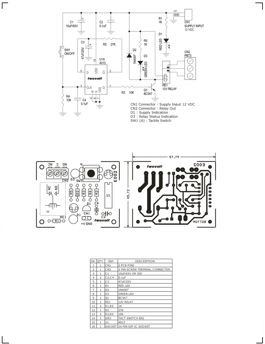 Digital Toggle Switch For Appliances Using Flip Flop Cd4013 10 Step Relay Selector Circuit Electronic Projects 2