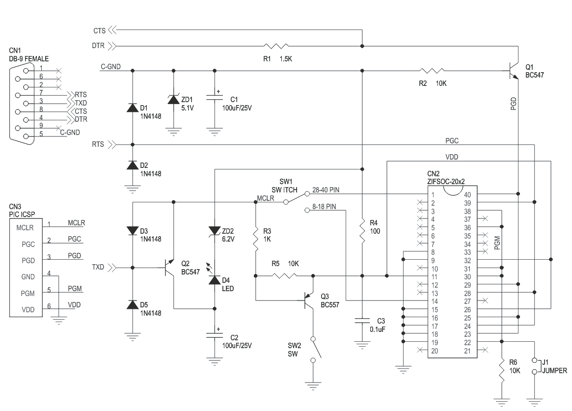 Serial Pic Micro Controller Programmer Circuit Ideas I Projects Diagram Of Clap Switch 3
