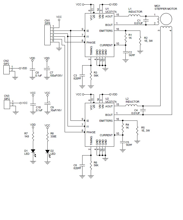 Circuit Diagram For Stepper Motor Driver Using Uc3717a - Your Wiring