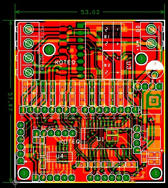 ps2-wireless-remote-robot-controller-pcb-pic - Circuit Ideas I