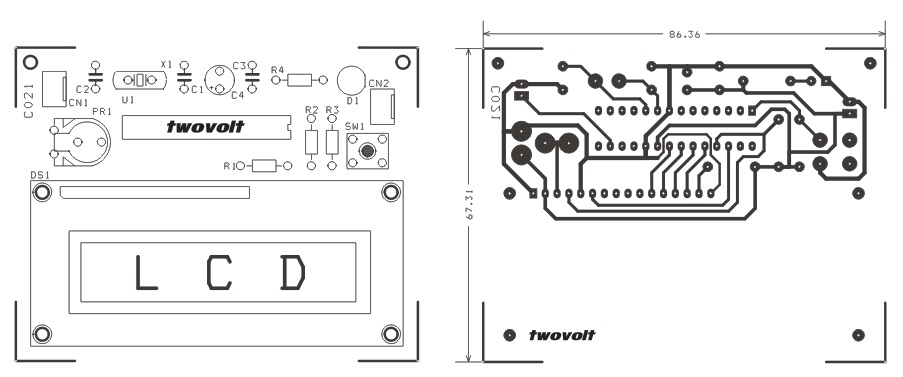 rc-signal-reader-using-lcd-and-pic16f873-pcb