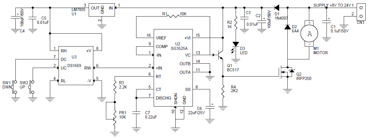 digital-dc-motor-speed-controller-with-up-down-tactile-switch-ds1669-sg3525-1