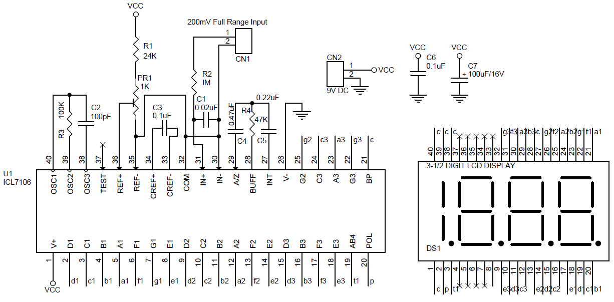 Pleasing Lcd Dpm Digital Panel Meter Using Icl7106 Circuit Pcb Layout Wiring Cloud Hisonuggs Outletorg