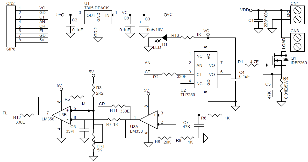 Relay Driver Solid State Archives Circuit Ideas I Projects Current Sensing Fault Output Normally High Goes When Over Or Short