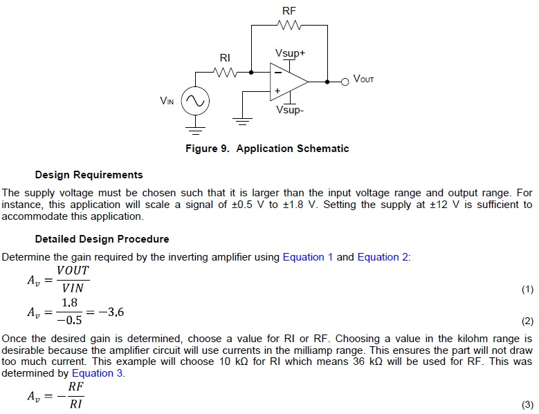 op-amp-inverting-amplifier-application-gain-calculation