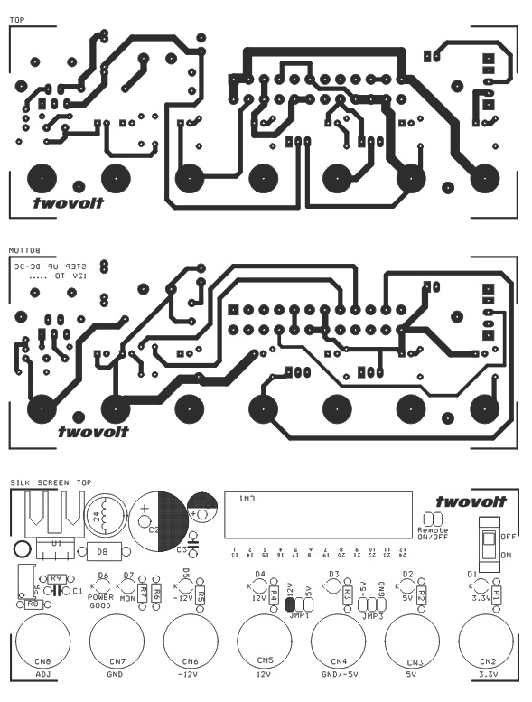 atx power supply breakout board schematic with step up dc dc coonverter  1