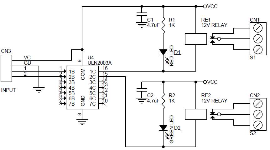 2 channel relay board schematic using smd components  3