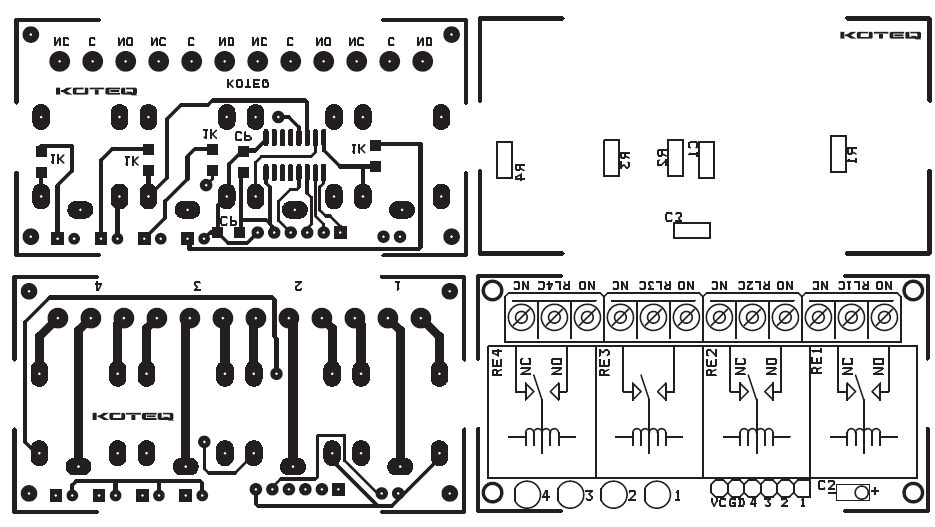 4 channel relay board using smd components  2
