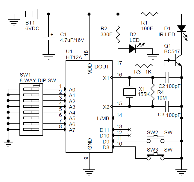 infra red remote controled motorrised volume controller