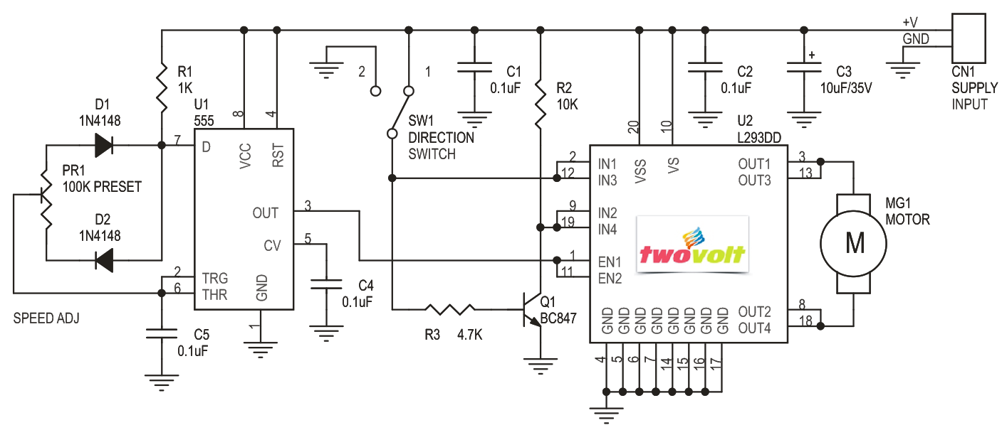 Motor Driver Dc Archives Circuit Ideas I Projects Schematics High Side Sense Like This One Followed By A Voltage To Current The L293 And L293d Devices Are Quadruple Half H Drivers Is Designed Provide Bidirectional Drive Currents Of Up 1 At Voltages