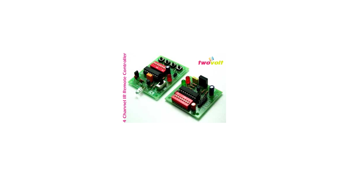 4 Channel IR Transmitter and Receiver Module Using ht12A